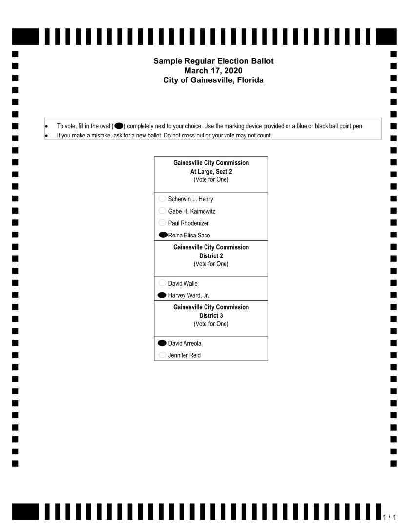 2020 City of Gainesville Election